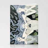 swim Stationery Cards featuring Swim by Yuliya