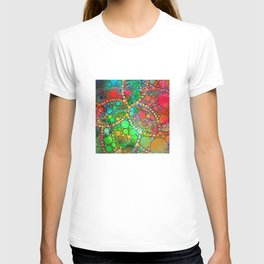 Colorful Bubble Pattern Abstract T-shirt