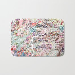 Prague map Bath Mat