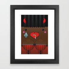 Cookie the Valentine's Spirit Framed Art Print