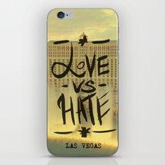 Love VS Hate - Las Vegas - iPhone & iPod Skin