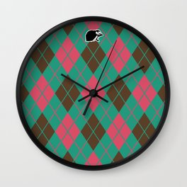 Shinbone's Green Nightie 3 Wall Clock