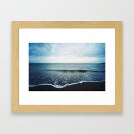 Sea Fold Framed Art Print