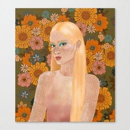 electric bloom Canvas Print