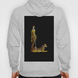 """""""Lady and the Leopard"""" Art Deco Design Hoody"""