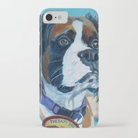 nori iPhone & iPod Cases featuring Nori the Therapy Boxer by Barking Dog Creations Studio