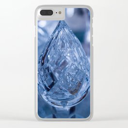 BLUE SAPPHIRE GLASS JEWEL Clear iPhone Case