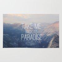 yosemite Area & Throw Rugs featuring Yosemite Paradise  by Tara Yarte