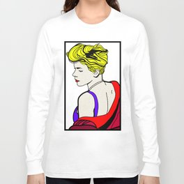 Robyn - Roy Lichtenstein Inspired Portrait 2 Long Sleeve T-shirt
