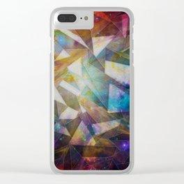 Fractal Nebula Clear iPhone Case