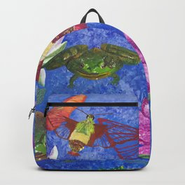 Hummingbird Moth and Frog Backpack