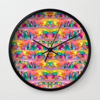 goddess Wall Clocks featuring  Goddess by dominiquelandau