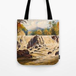 Purumama The River Parima Illustrations Of Guyana South America Natural Scenes Hand Drawn Tote Bag