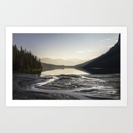 Lake Louise Light Rays Art Print