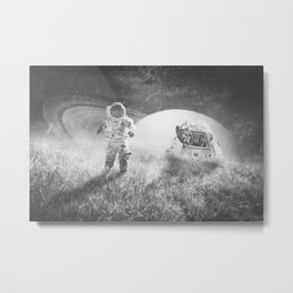 Familiar Planet Metal Print