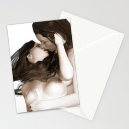 Minas - Female Kiss 2 Stationery Cards