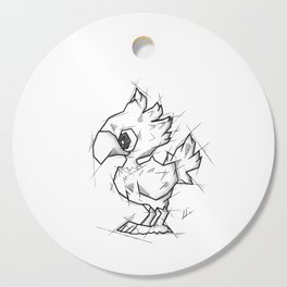 Chocobo Handmade Drawing, Made in pencil and ink, Tattoo Sketch, Final Fantasy Art Cutting Board