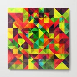 Abstact Multi Color Geometry Metal Print