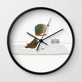 """""""Upward Dog"""" Wall Clock"""