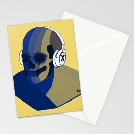 Skeleton music cool  Stationery Cards