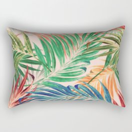Palm Leaves in color Rectangular Pillow