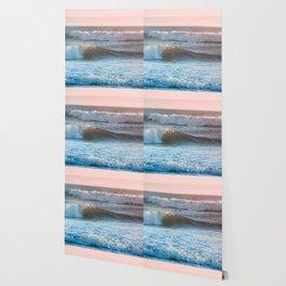 Beach Adventure Summer Waves at Sunset Wallpaper