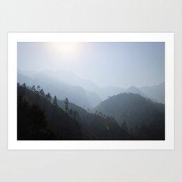 Himalayan Silhouettes // Nepal Art Print