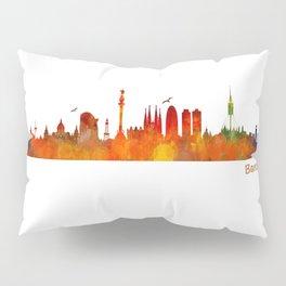 Barcelona City Skyline Hq _v1 Pillow Sham