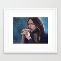 jared leto Framed Art Prints featuring Jared Leto by Whitney Silva
