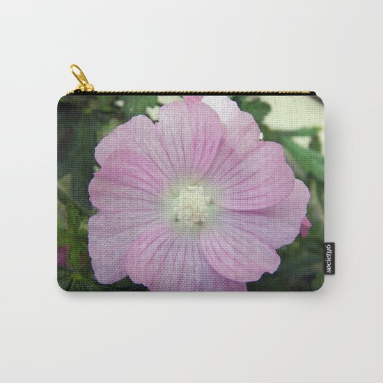 Pink Musk Mallow Carry-All Pouch