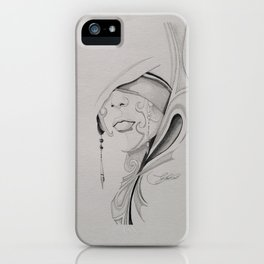 Abstract girl iPhone Case