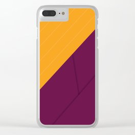 Geometric Crossing Clear iPhone Case