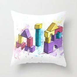 Toy Bricks Throw Pillow
