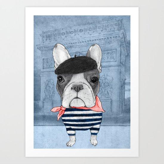 French Bulldog. Art Print
