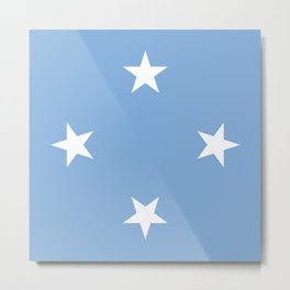 Federated States of Micronesia flag emblem Metal Print