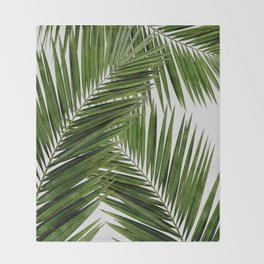 Palm Leaf III Throw Blanket
