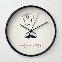 cooking Wall Clocks featuring keep cooking by Msimioni