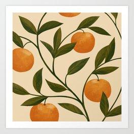 Lucky Tangerines Art Print