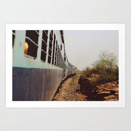 A train to the desert (Rajasthan, India) Art Print