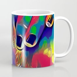 9978s-KD Abstract Yoni Pop Color Erotica Explicit Psychedelic Self Love Coffee Mug