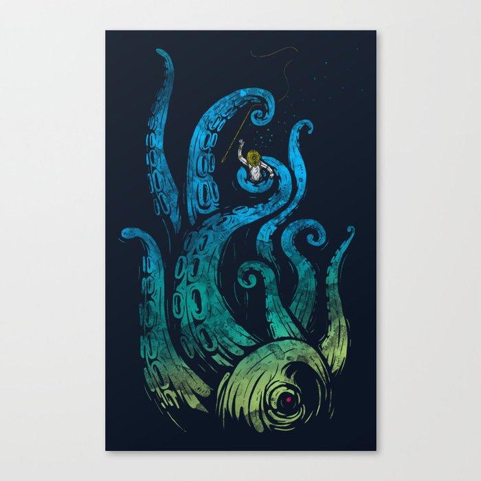 Undersea attack (neon ver.) Canvas Print