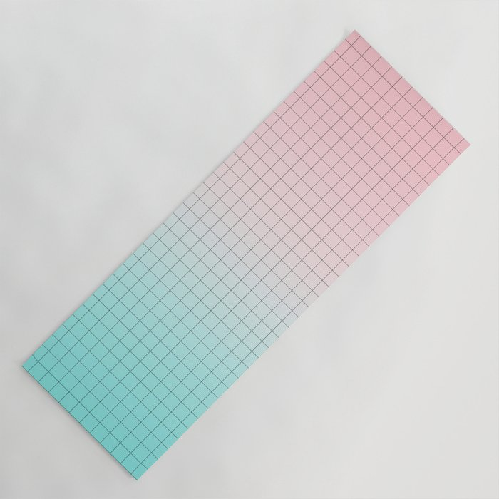 Millennial Pink And Light Blue Geometry Yoga Mat By Cafelab Society6