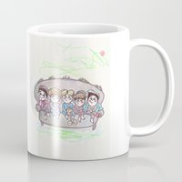 shinee Mugs featuring Dream SHINee by sophillustration