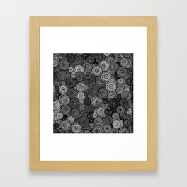 Heavy iron / 3D render of hundreds of heavy weight plates Framed Art Print