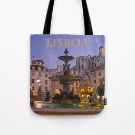 Rossio fountain, Lisbon Tote Bag