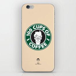 100 Cups of Coffee iPhone Skin