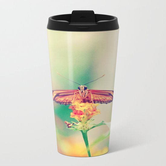 Butterfly retro Metal Travel Mug
