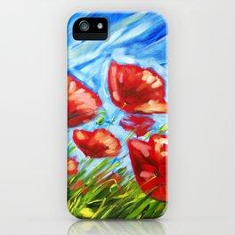Wild Poppies by Ira Mitchell-Kirk iPhone Case