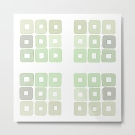 Squared Mint Green & Co Metal Print