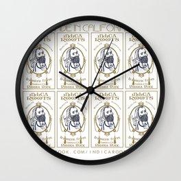 Indica Roots Reggae Band  Wall Clock